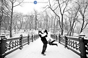 Snowy Central Park Engagement Session (13)