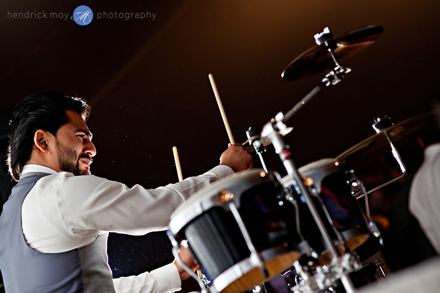 NJ-Wedding-Alba-Vineyard-reception-drums-backlight