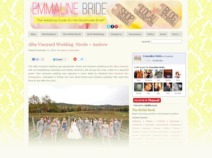 FEATURED ON EMMALINE BRIDE | NEW JERSEY WEDDING PHOTOGRAPHER