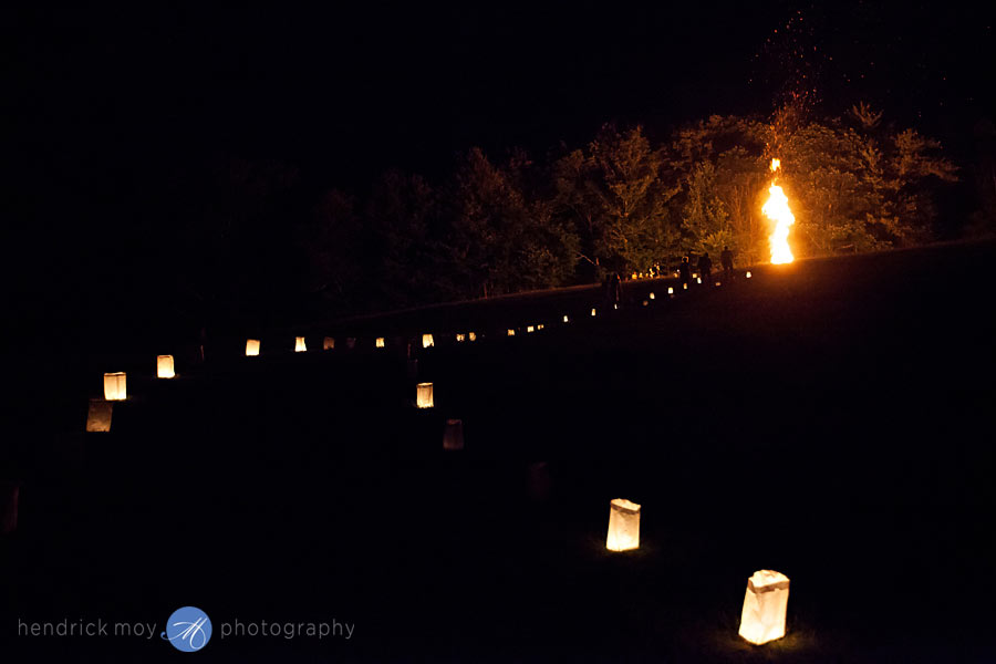 Hudson-Valley-Wedding-Photographer-NY-luminaries-candles-paper-bags