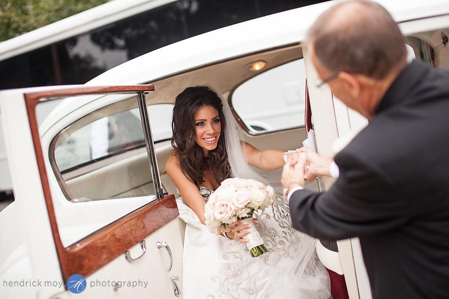 bride father limo nj wedding hendrick moy photography