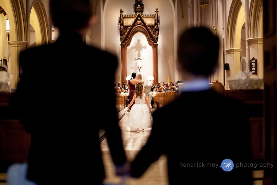 nj wedding ceremony church st. paul pictures hendrick moy photography