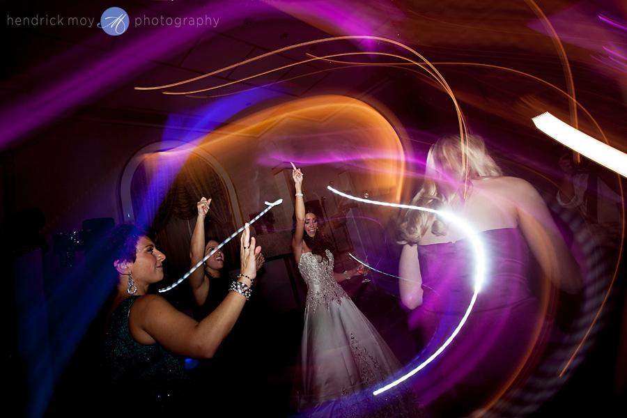wedding reception dance light trails hendrick moy photography