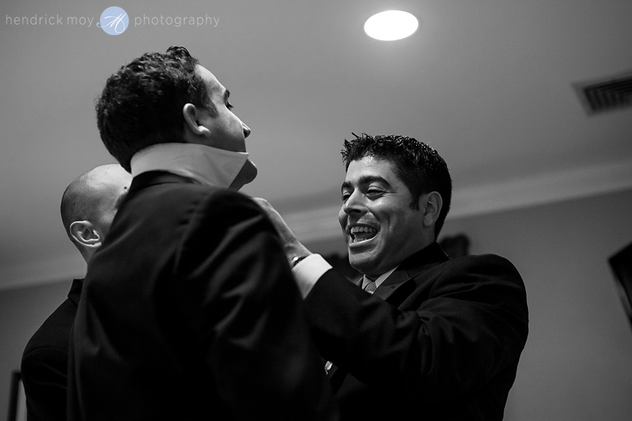 black and white groom preparation wedding hendrick moy photography