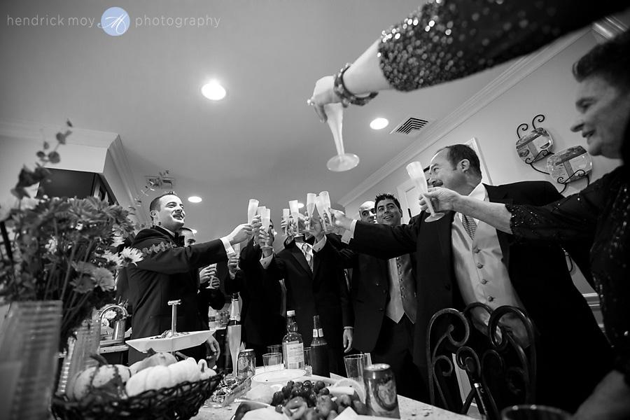 groom pre toast wedding hendrick moy photography