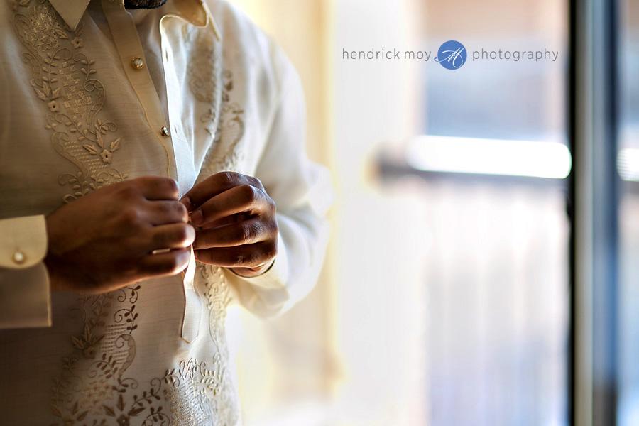 Glen Ridge NJ wedding photographer groom preparation
