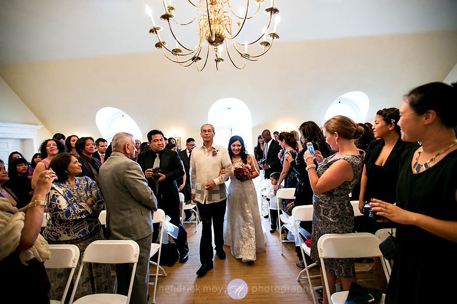 Glen Ridge NJ wedding photographer down the aisle