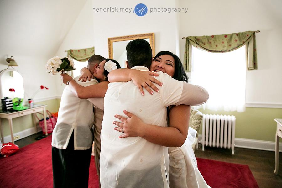 Glen Ridge NJ wedding photographer hugs