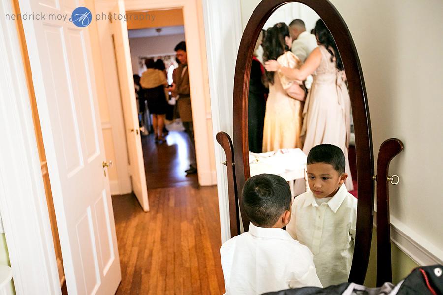 Glen Ridge NJ wedding photographer reflection