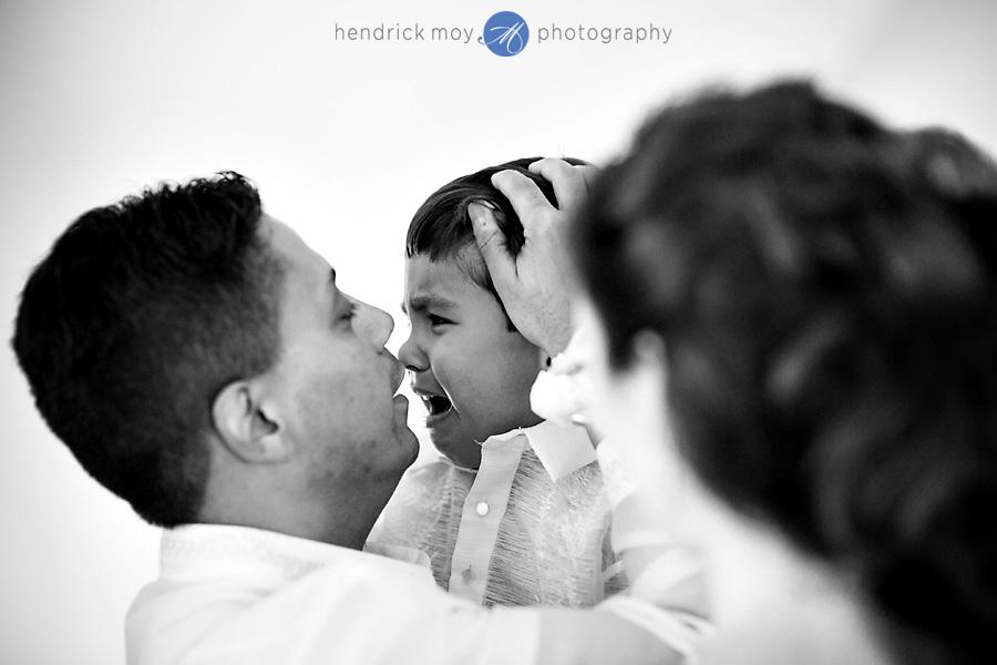 Glen Ridge NJ wedding photographer crying kid