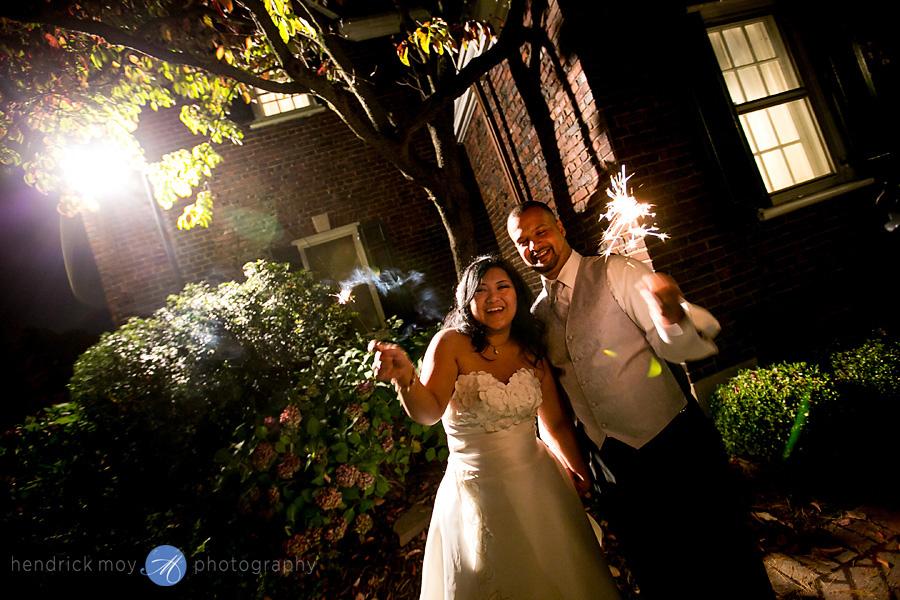 Glen Ridge NJ wedding photographer sparkler exit