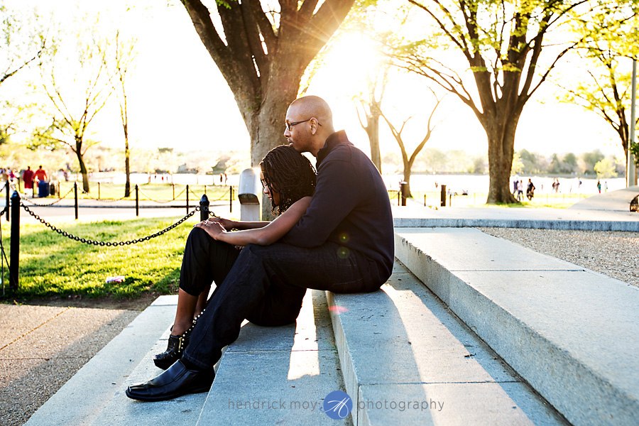 hendrick moy photography tidal basin engagement photos
