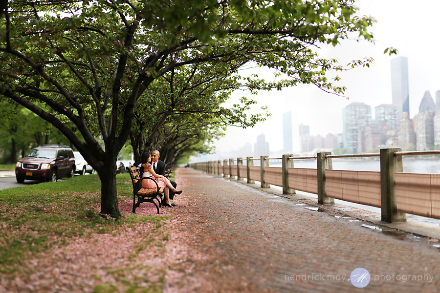 Roosevelt Island engagement photographer brenizer panorama