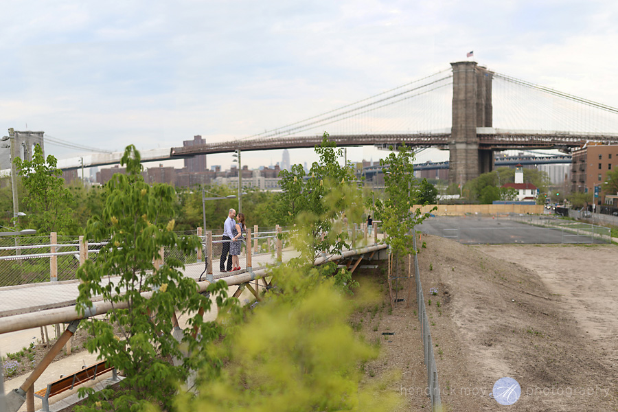 brooklyn engagement photographer bokeh panorama