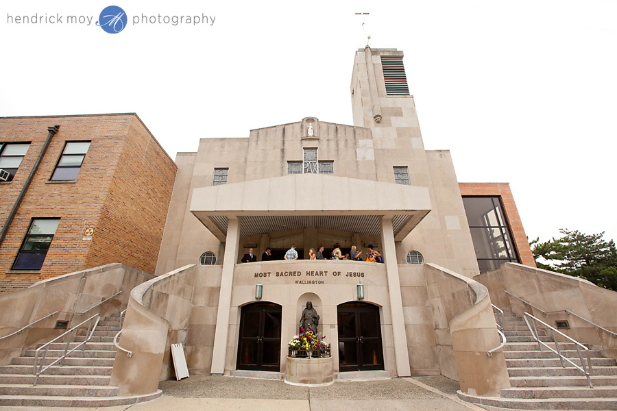 Tides Estate NJ Wedding Photographer most sacred heart of Jesus church