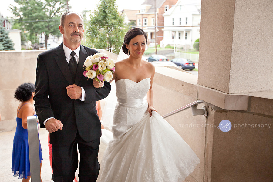 Tides Estate NJ Wedding Photographer father walking with bride