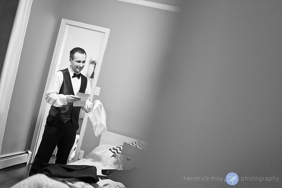 Tides Estate NJ Wedding Photographer groom getting ready