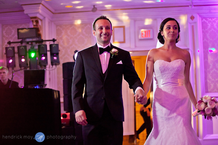 Tides Estate NJ Wedding pictures grand entrance bride groom