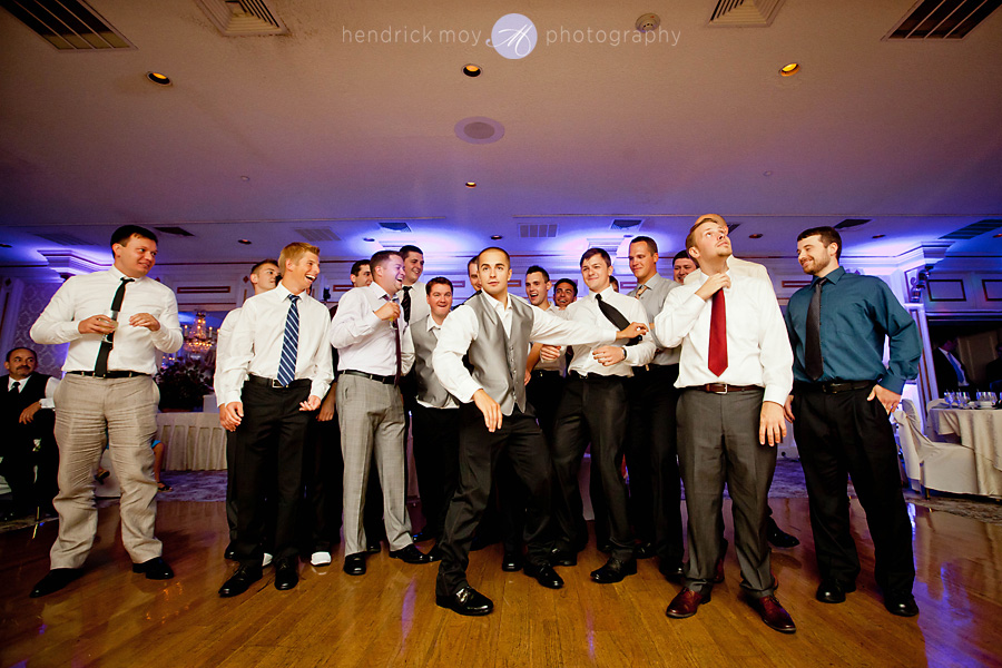 Tides Estate NJ Wedding pictures men garter toss