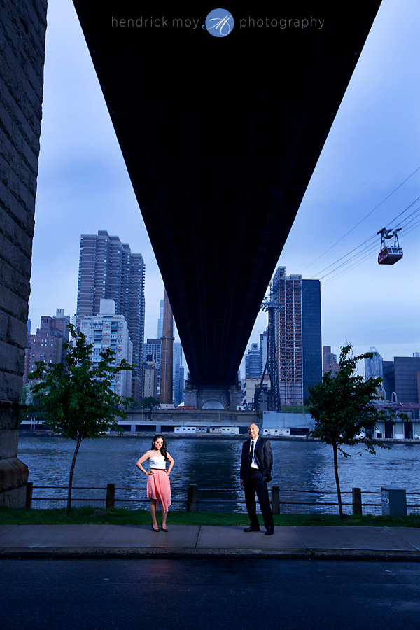 Roosevelt Island engagement photographer composite