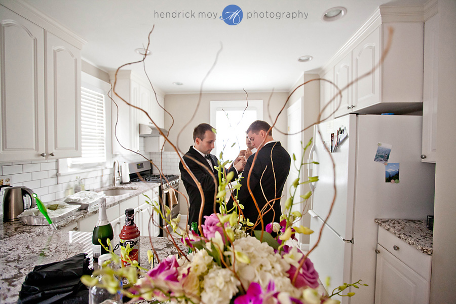 Tides Estate NJ Wedding Photographer groomsmen getting ready