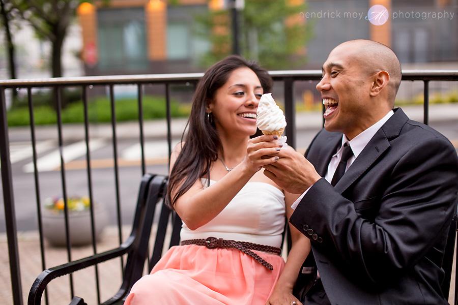 Roosevelt Island engagement photographer ny ice cream