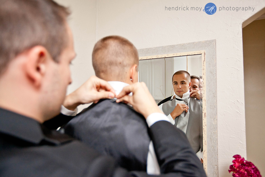 Tides Estate NJ Wedding Photographer groomsman getting ready