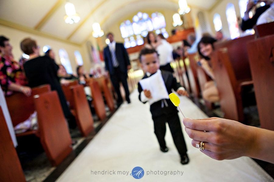 Our-Lady-Fatima-Newark-NJ-Wedding-Photographer-Hendrick-Moy-ring-bearer-lilipop