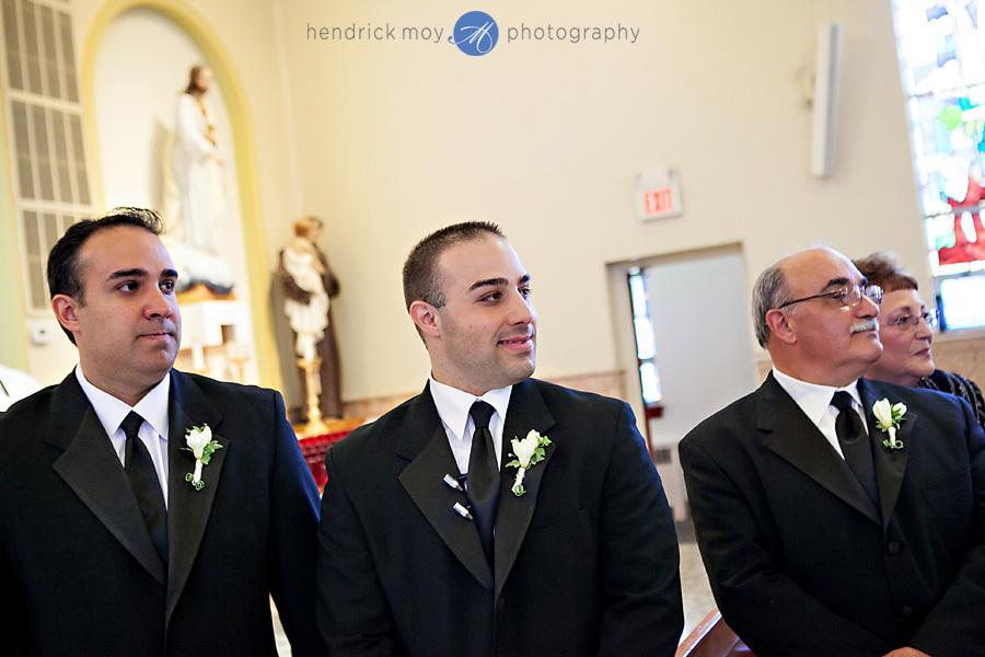 Our-Lady-Fatima-Newark-NJ-Wedding-Photographer-Hendrick-Moy-groom-reaction