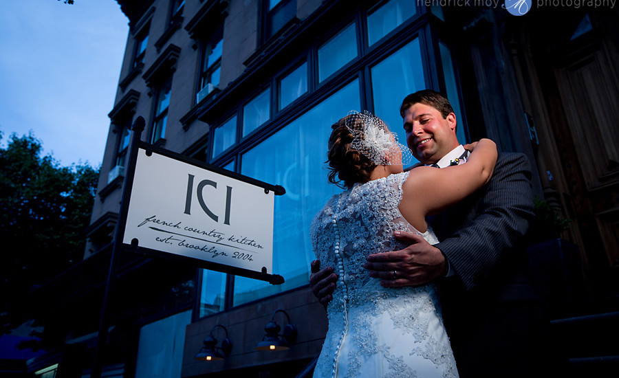 ICI restaurant wedding photographer brooklyn ocf photo