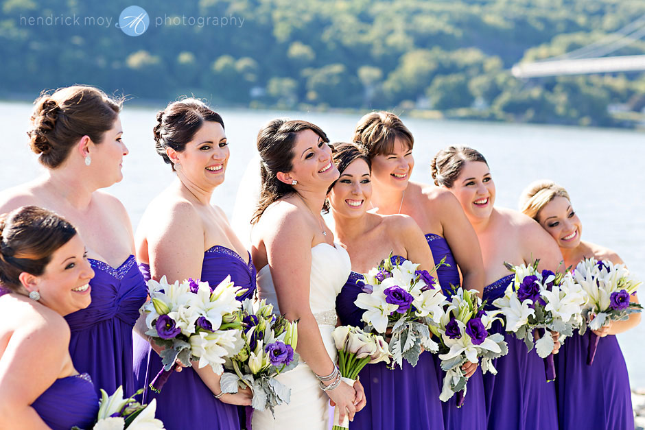 purple bridesmaids hudson valley ny wedding