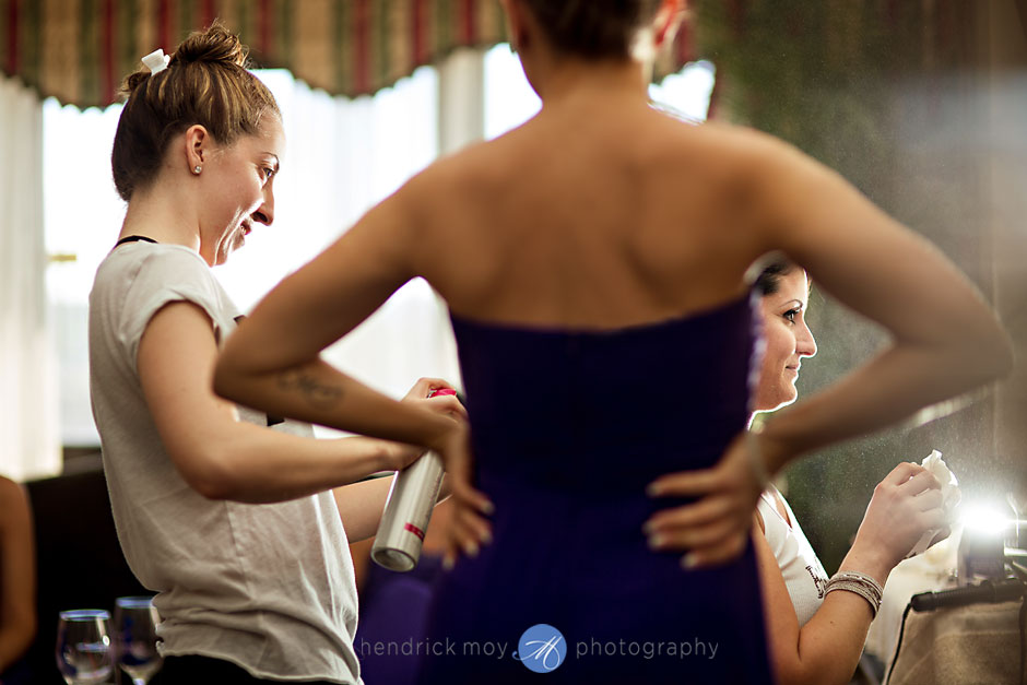 bride getting ready poughkeepsie grand hotel ny