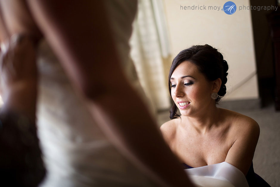 bride getting ready grand hotel poughkeepsie ny