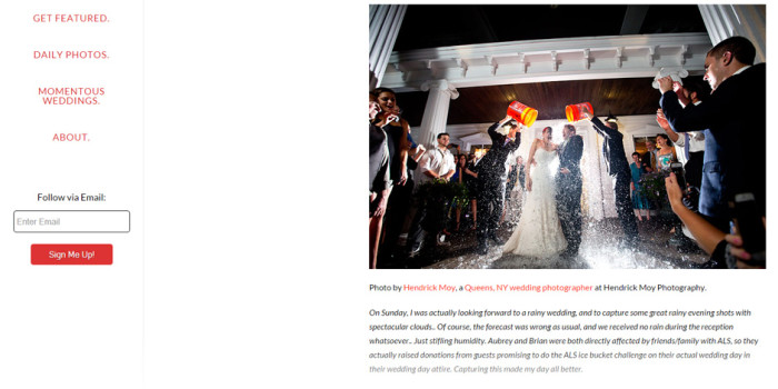 ice bucket challenge wedding feature photography hendrick moy