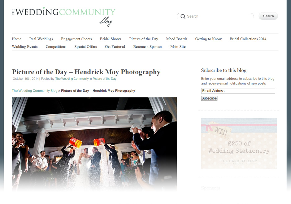 featured hudson valley ny wedding photographers FEATURED ON WEDDING COMMUNITY UK | NY WEDDING PHOTOGRAPHER