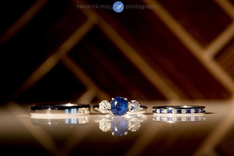 Blue Wedding Engagement Ring shot