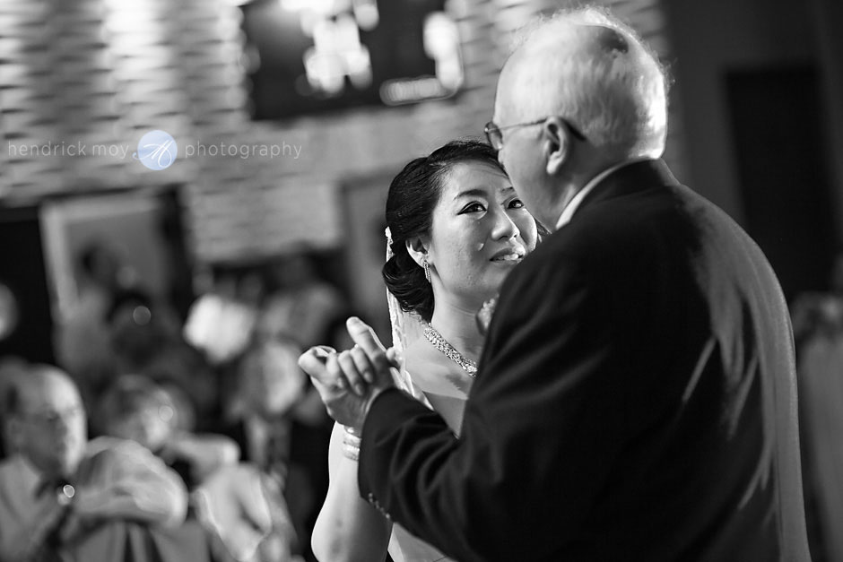 father daughter dance black white photography