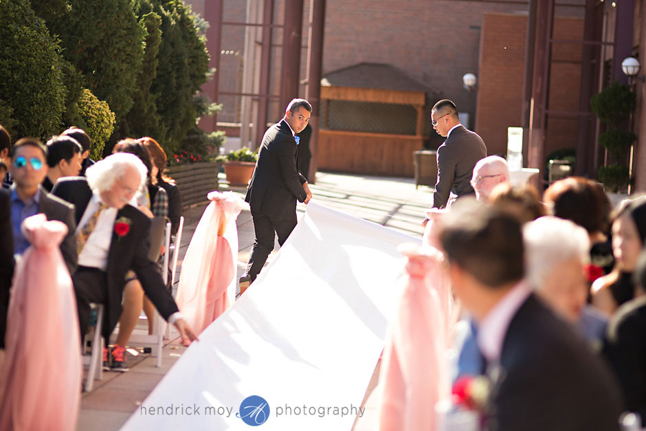 flushing sheraton wedding ceremony photographer