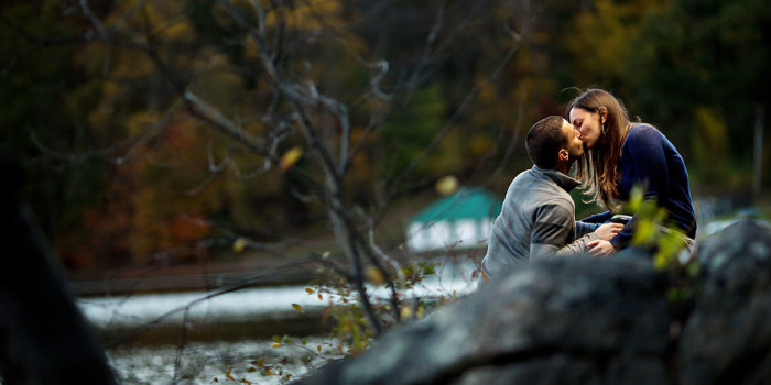 hudson valley autumn engagement photographer