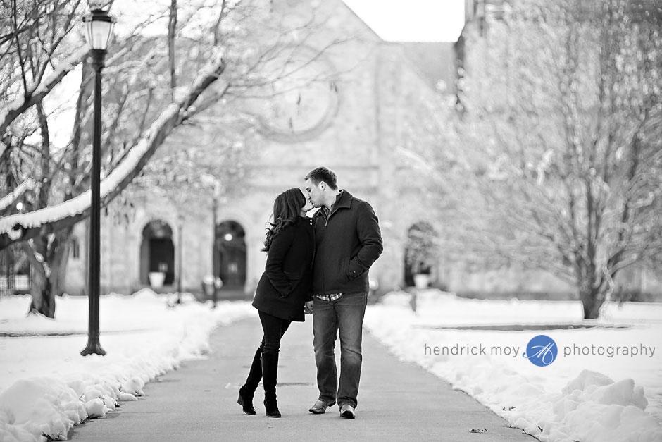 vassar winter engagement photos ny hendrick moy