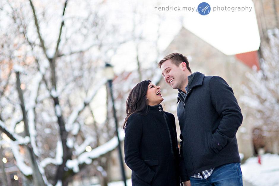 vassar snowy engagement photos ny hendrick moy