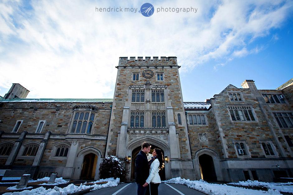 winter vassar college engagement photos ny hendrick moy