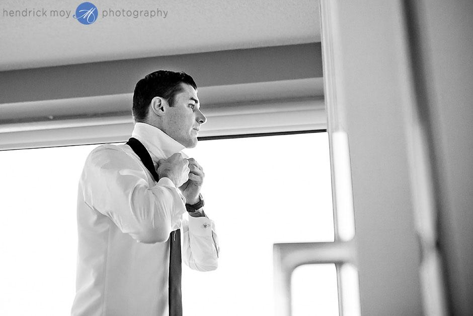 Oyster Point hotel wedding groom