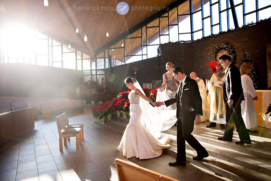St. Aloysius Church wedding winter