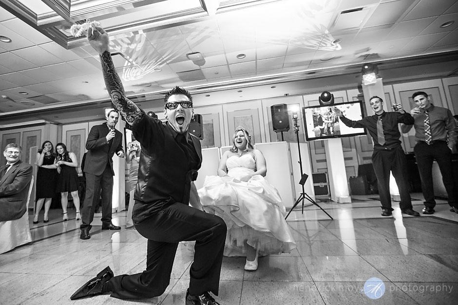 garter toss reception lighting wedding hendrick moy photography villa borghese