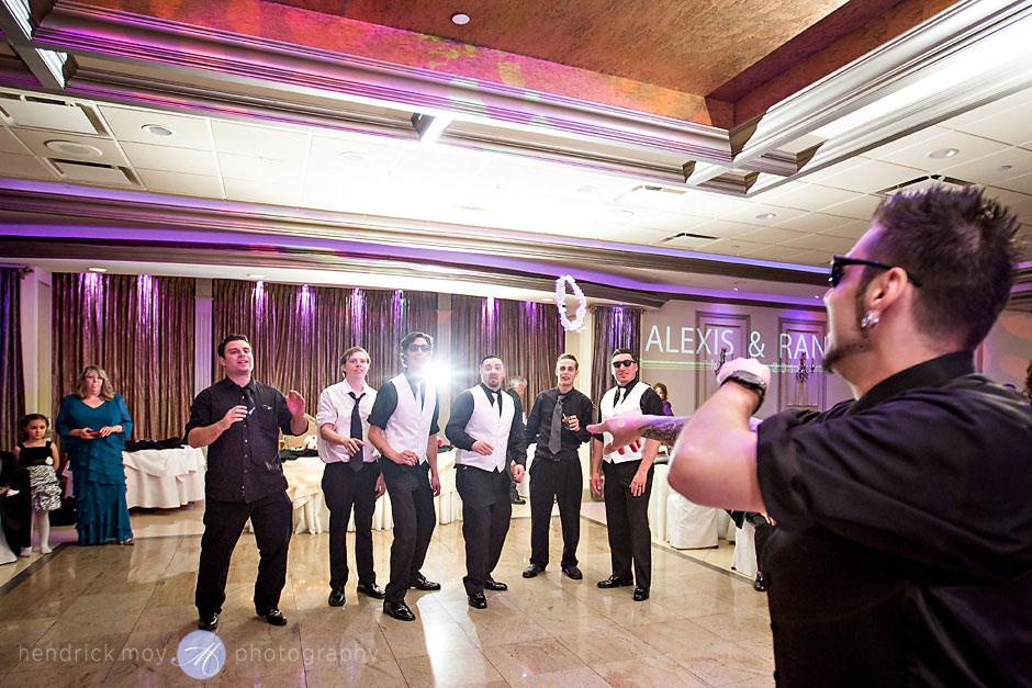 garter toss lighting wedding villa borghese hendrick moy