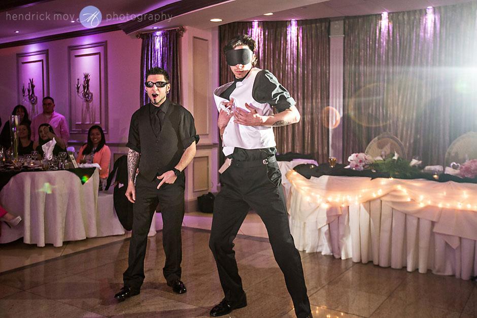 villa borghese wedding garter toss hendrick moy