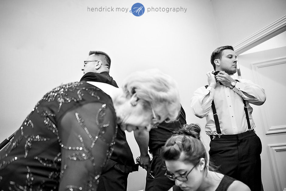 groom getting ready at the poughkeepsie grandview hudson valley ny