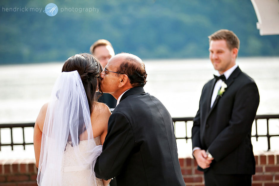 father giving daughter away wedding ceremony poughkeepsie ny