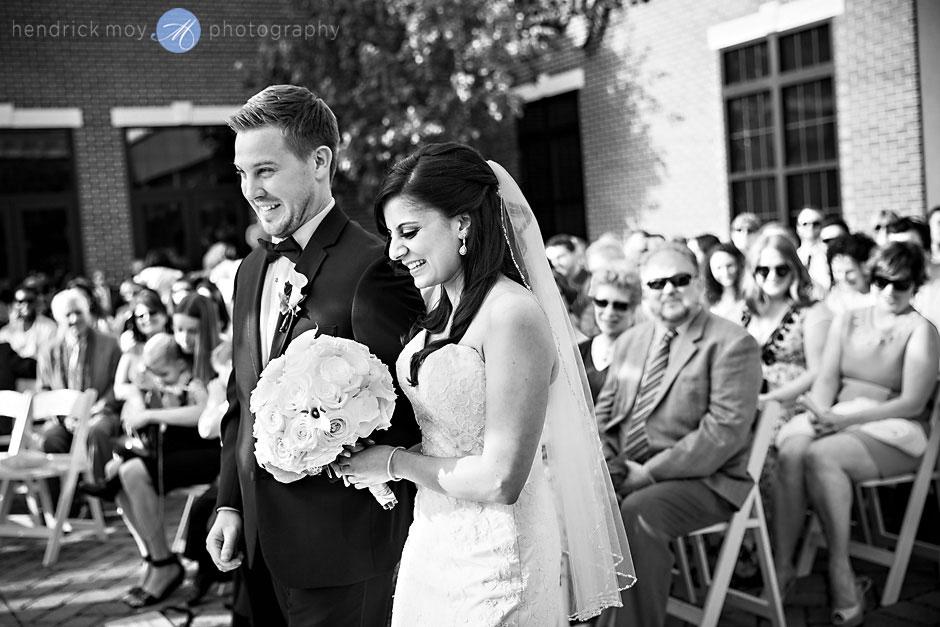wedding ceremony at the poughkeepsie grandview hudson valley ny hendrick moy